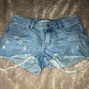 Zara Light Denim mini shorts